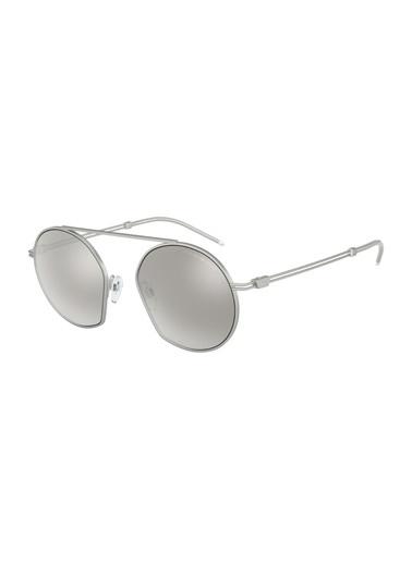 Emporio Armani  Aynalı Gözlük Erkek Gözlük 0Ea2078 30456G 50 Gümüş